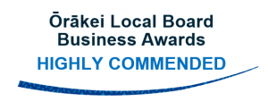 orakei local board business awards highly commended logo