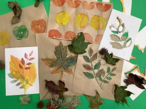 Examples of leaves artworks